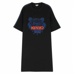 Kenzo Black Tiger-embroidered Dress