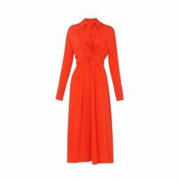 Kitri Phoenix Silk Shirt Dress