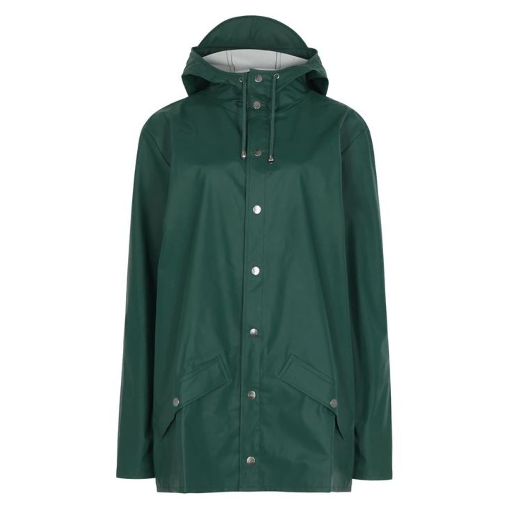 Rains Forest Green Rubberised Raincoat