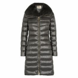 Herno Iconic Elisa Fur-trimmed Shell Coat