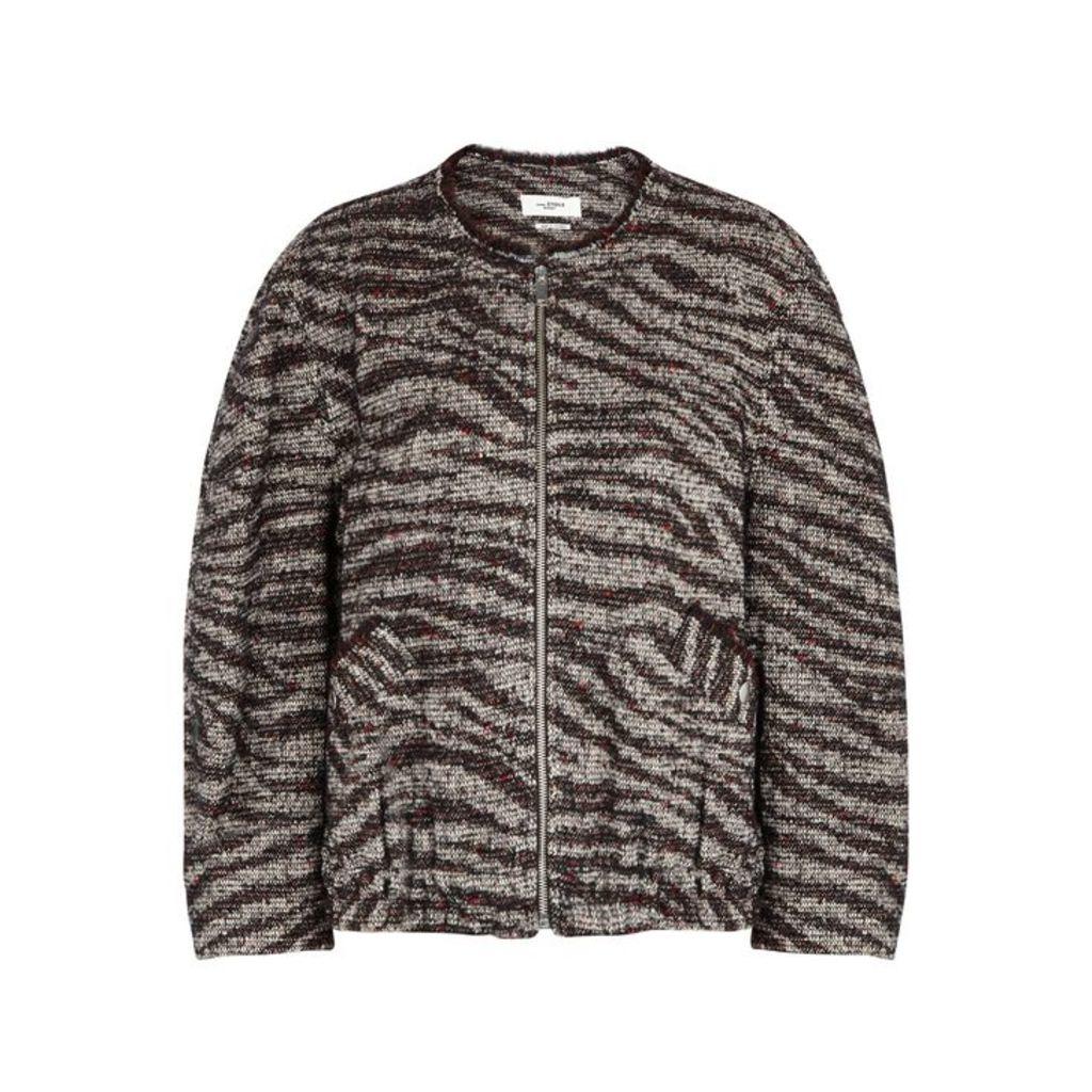 Isabel Marant Étoile Laho Tweed Bomber Jacket