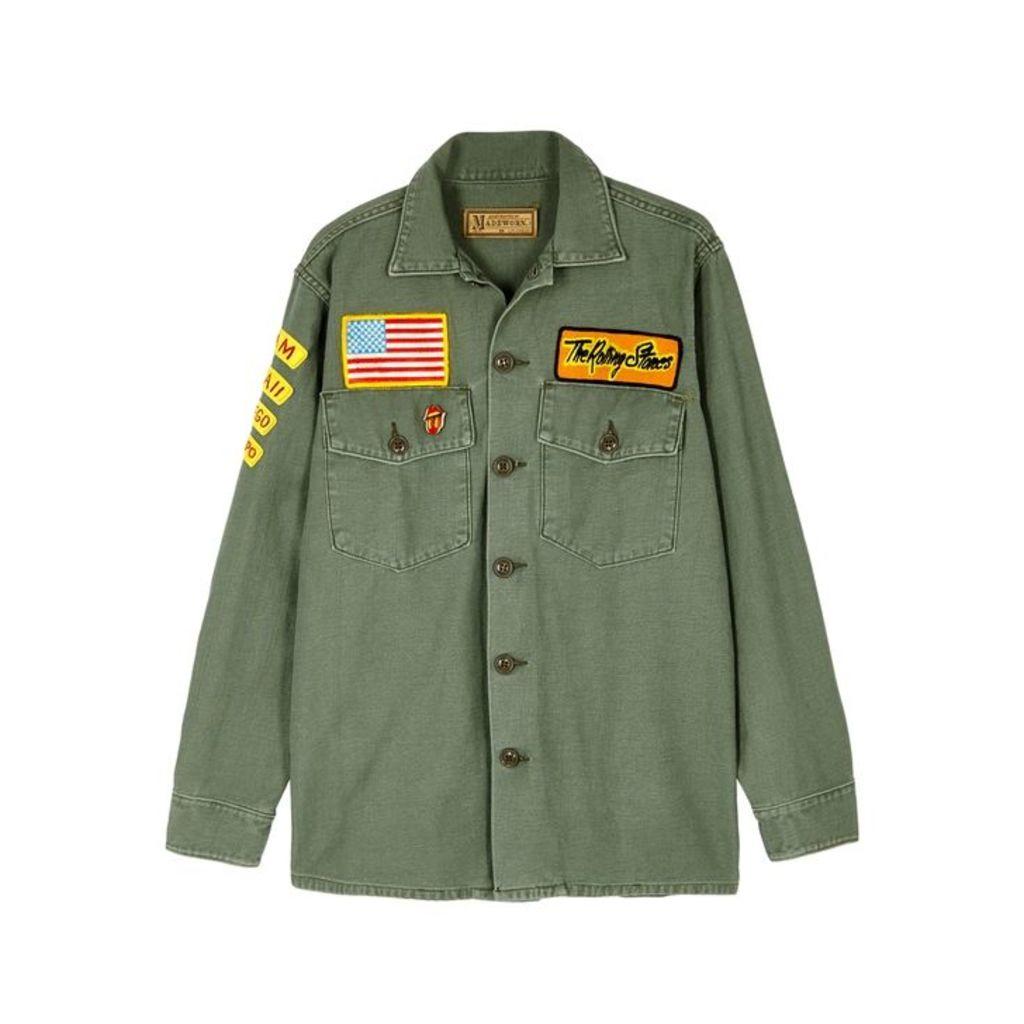 MadeWorn Rolling Stone Appliquéd Cotton Jacket