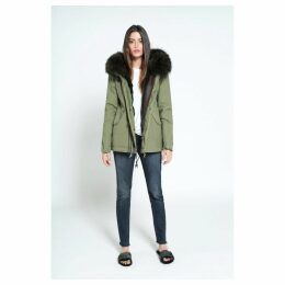 Mr & Mrs Italy Army Mini Parka Rabbit Fur