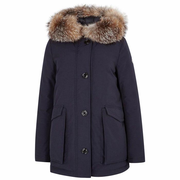 Moncler Courvite Fur-trimmed Shell Coat
