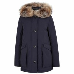 Moncler Courvite Fur-trimmed Shell Coat