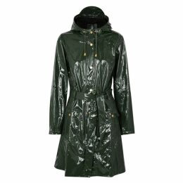 Rains Glossy Curve Patent Rubberised Raincoat
