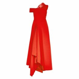 Preen By Thornton Bregazzi Carol Red Tulle-embellished Gown