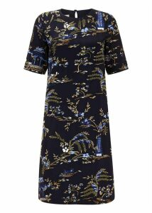 Pagoda Dress Navy Multi 10