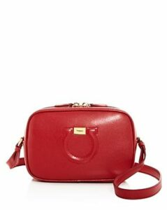 Salvatore Ferragamo Small Gancini City Leather Crossbody