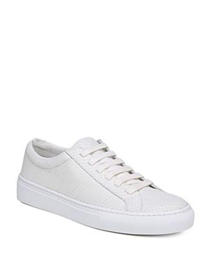 Via Spiga Women's Suvi 2 Snakeskin-Embossed Leather Sneakers