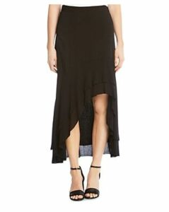 Karen Kane Tiered High/Low Raw-Hem Skirt