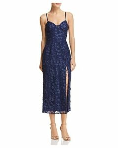 Sau Lee Layla Embroidered Midi Dress