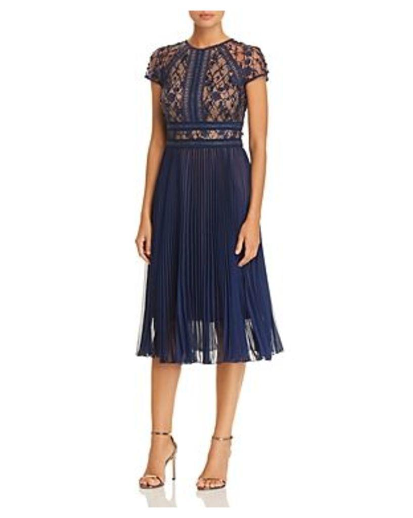 Tadashi Shoji Embellished Pleat Dress