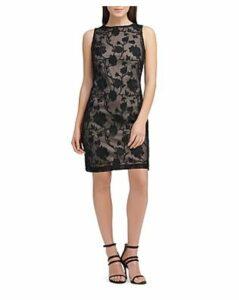 Donna Karan New York Embroidered Sheath Dress