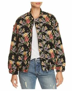 Iro. jeans Amour Floral Bomber Jacket