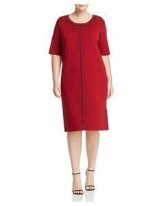 525 America Plus Contrast-Seam Sheath Dress