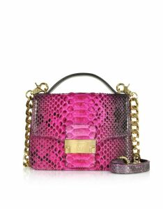 Ghibli Designer Handbags, Python Leather Crossbody Bag