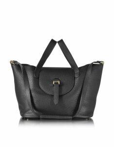 Meli Melo Designer Handbags, Black Leather Thela Medium Tote Bag