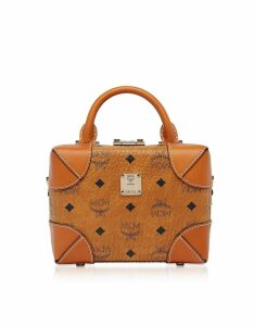 MCM Designer Handbags, Cognac Soft Berlin Visetos Small Crossbody Bag