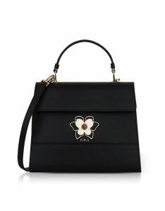 Furla Designer Handbags, Onyx Mughetto Medium Top Handle Satchel Bag