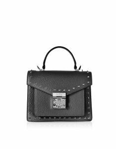 MCM Designer Handbags, Small Patricia Studded Park Avenue Satchel Bag