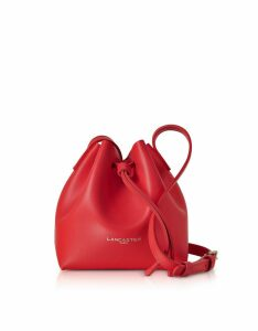 Lancaster Paris Designer Handbags, Pur & Element Smooth Leather Mini Bucket Bag