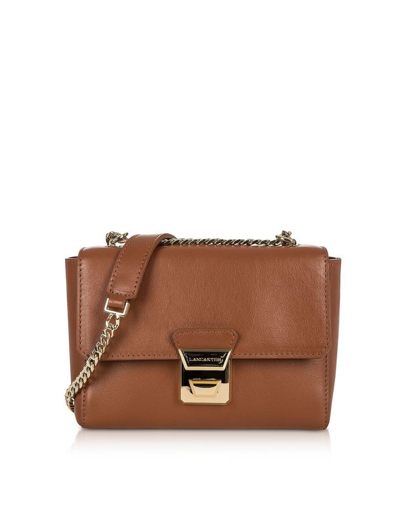 Lancaster Paris Designer Handbags, Gena Or Leather Small Crossbody Bag