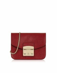 Furla Designer Handbags, Cherry Leather Metropolis Mini Crossbody Bag