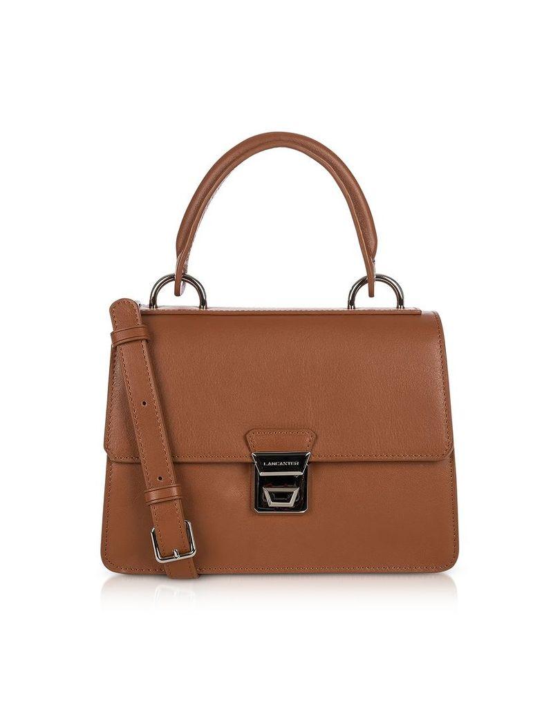 Lancaster Paris Designer Handbags, Garance Leather Top Handle Shoulder Bag