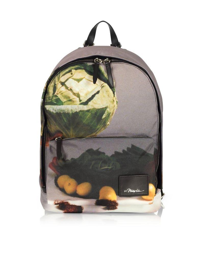 3.1 Phillip Lim Designer Handbags, 31 Hour Printed Navy Blue Backpack