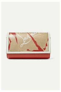 Christian Louboutin - Paloma Kraft Spiked Printed Textured-leather And Pvc Clutch - one size
