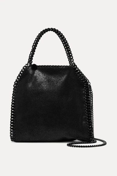Stella McCartney - The Falabella Mini Faux Brushed-leather Shoulder Bag - Black