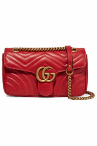 Gucci - Gg Marmont Small Quilted Leather Shoulder Bag - Red