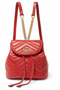 Gucci - Gg Marmont Quilted Leather Backpack - Red