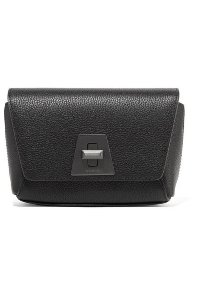 Akris - Anouk Little Day Textured-leather Shoulder Bag - Black