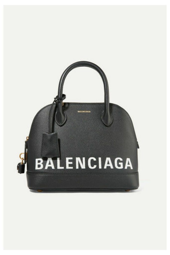 Balenciaga - Ville Printed Textured-leather Tote - Black