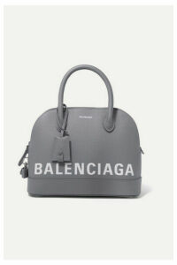Balenciaga - Ville Small Printed Textured-leather Tote - Gray