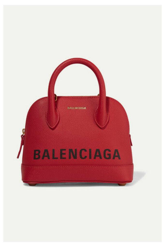 Balenciaga - Ville Xxs Aj Printed Textured-leather Tote - one size