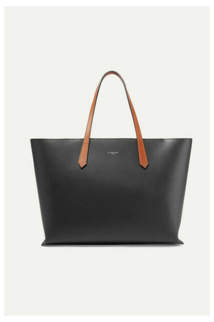 Givenchy - Gv Two-tone Leather Tote - Black