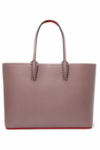 Christian Louboutin - Cabata Spiked Textured-leather Tote - Blush