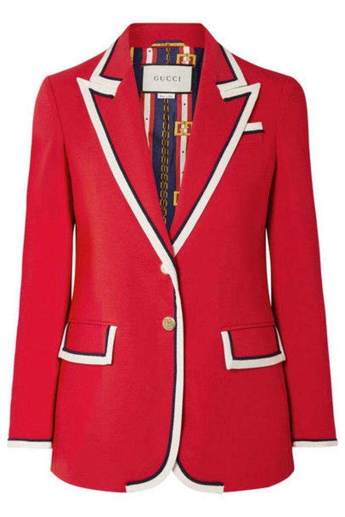 Gucci - Grosgrain-trimmed Cady Blazer - Red