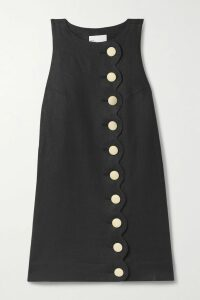 Chloé - Belted Double-breasted Twill Blazer - Black
