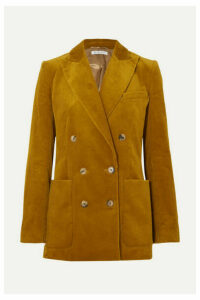Bella Freud - Bianca Double-breasted Cotton-corduroy Blazer - Mustard
