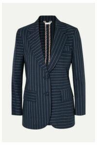 Thom Browne - Pinstriped Cotton Blazer - Navy