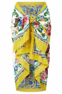 Dolce & Gabbana - Printed Cotton Pareo - Yellow