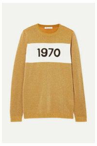 Bella Freud - 1970 Metallic Knitted Sweater - Gold
