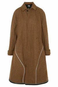 Balenciaga - Houndstooth Wool-blend Coat - Brown