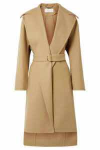 Chloé - Belted Wool-blend Coat - Sand