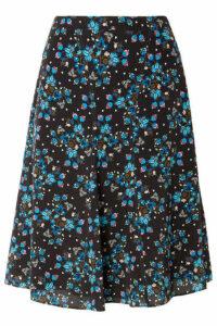 Altuzarra - Caroline Floral-print Silk Crepe De Chine Skirt - Black