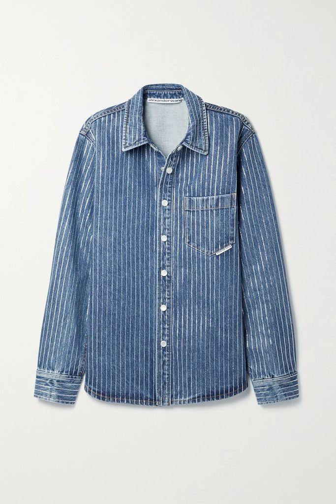 Paul & Joe - Java Sequined Floral-print Tulle Midi Skirt - Bright green
